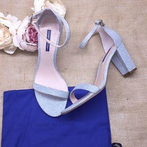 Stuart Weitzman Silver Heeled Sandals